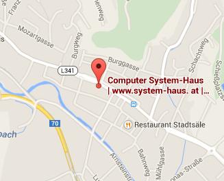 So Finden Sie zum Computer System-Haus Voitsberg, in der Weststeiermark am Hauptplatz 4 in 8570 Voitsberg